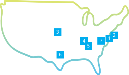 map of PRA locations in the US